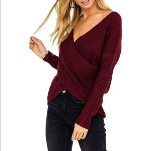 ASTR the label wrap style sweater. Xs